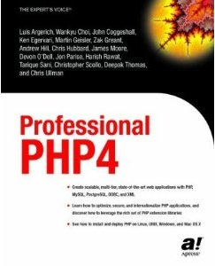 Professional PHP4 book cover